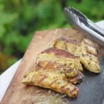 Halloumi-Käse fertig gegrillt