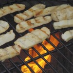 Leckeres grillen von Halloumi-Käse