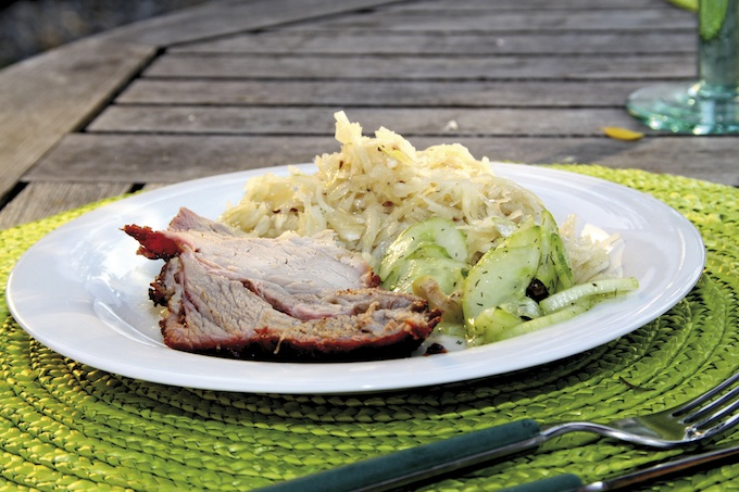 Schweinehals mit Krautsalat1