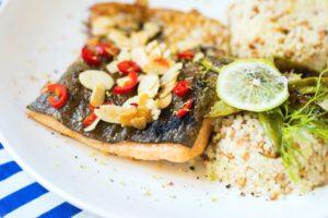 Forelle mit Gemüse-Couscous