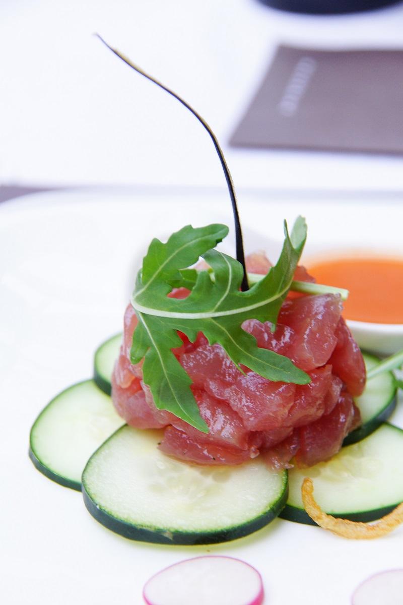 Thunfischtatar mit Yuzu-Marinade