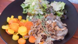 Pfifferlings-Ragout-Karotten-Salat