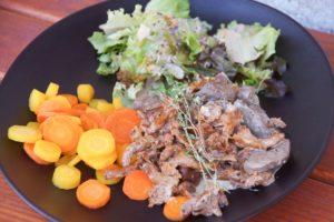Pfifferlings-Ragout-Karotten-Salat