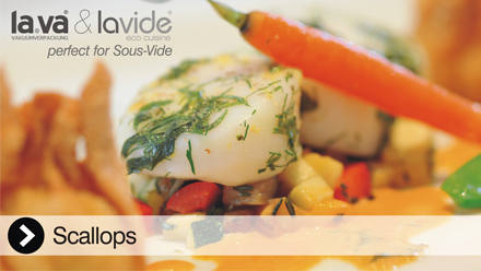Scallopy Sous-Vide - The video here, you can make this at home with the Lavide Sous-Vide devices