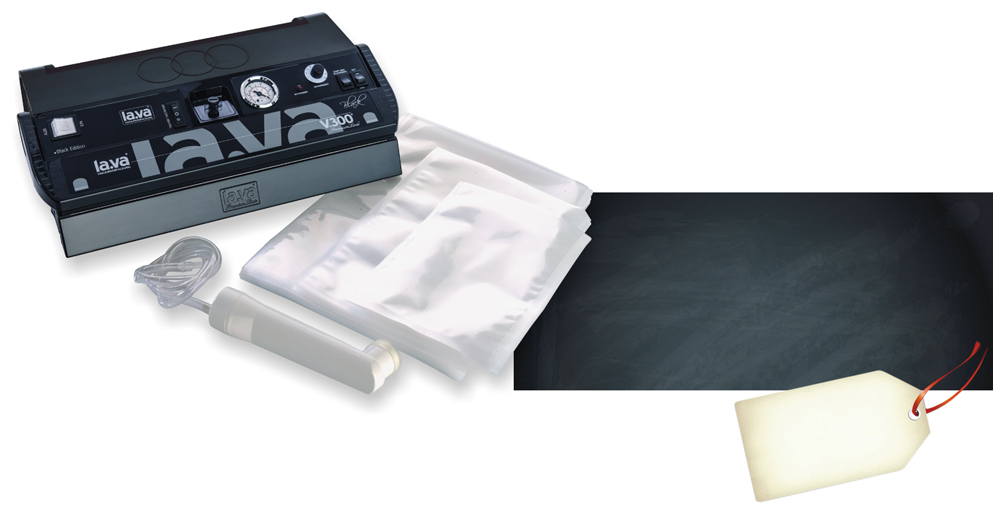 Lava Vacuum Sealer V.300 Black (New Design!)