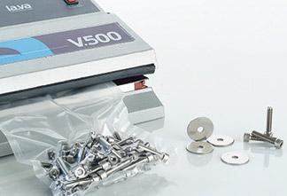 Vakuumverpackungsmaschine V.500 Premium - die Alleskönner-Maschine im Bereich Vakuumverpackung für Industrie und Gewerbe. Vakuumieren von Metallbauteilen und sonstigen Industriegütern. Mit einer Lava Vakuumverpackungsmaschine entscheiden Sie sich für maximalen Transportschutz.