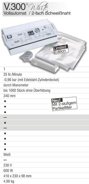 Innovation trifft Design: Vakuumierer V.300 White - Neu bei Lava - 2-fach Schweißnaht, neues Lava Filtersystem, LCS und LTP. Vakuumierer V.300 White: Professionell vakuumieren in Haushalt & Gewerbe - hier online bestellen!