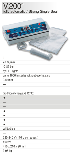 The Original Vacuum Sealer V.200 from Germany - Buy now the Original of Lava - the powerful Vacuum Sealer V.200 for home- and commercial use - vacuum packing food and commercial products